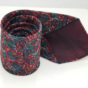 Christian Dior Tie Men All Silk Necktie Paisleys